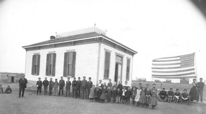 8. Hamilton County - undated. This lovely single-story building housed the students of District 14.