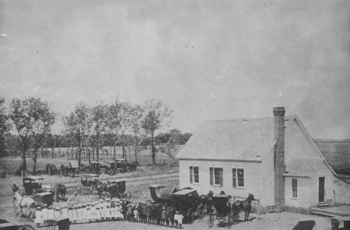 10. Zion Lutheran Parochial School, Hampton - 1920. This photo was clearly a big deal as everyone dressed up and brought their horses and cars into the picture.