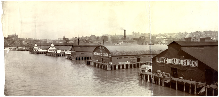 7. The Seattle waterfront over a hundred years ago in 1905.