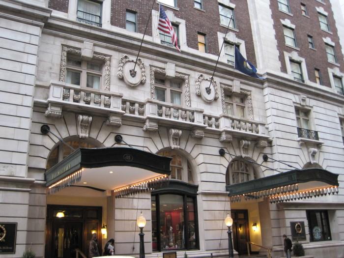 6. Seelbach Hilton Louisville at 500 S 4th Street in Louisville