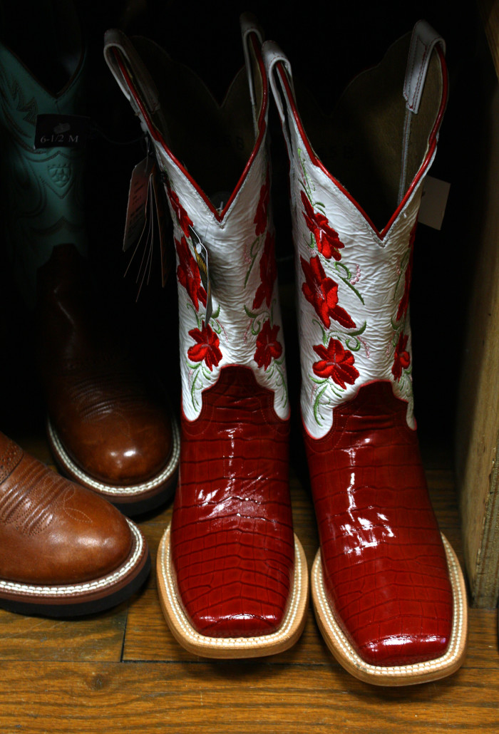 8. Shiny western boots