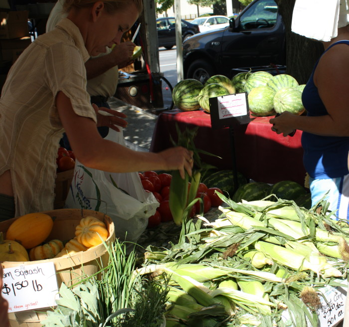 2. Shop at a farmer's market.