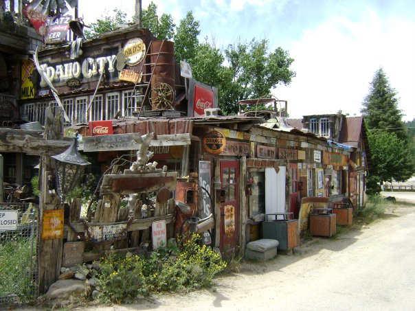 This second-hand and antique shop in Idaho City was hand-built by one man: Larry Carter.