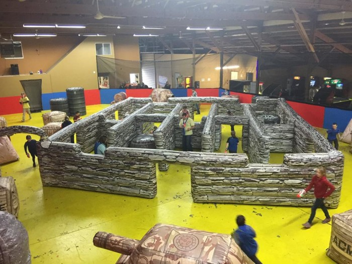 8. Battle it out at a Nerf arena.