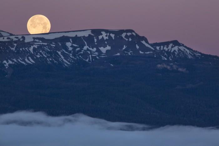 9. Supermoon Setting in the Centennial Mountains