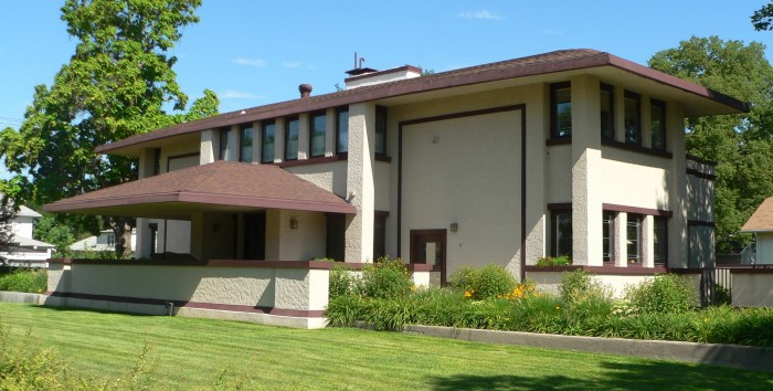 12. Sutton House, designed by Frank Lloyd Wright, McCook