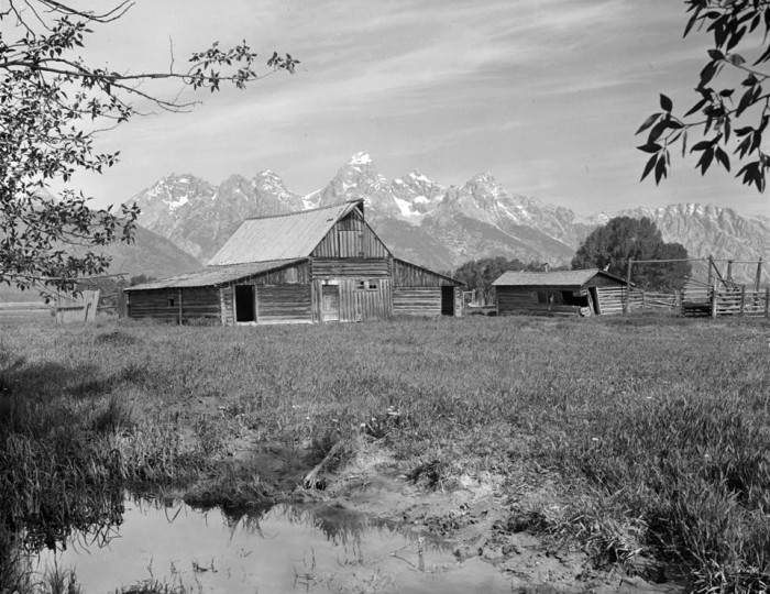 10.  T.A Moulton Barn in Grand Teton National Park - 1977