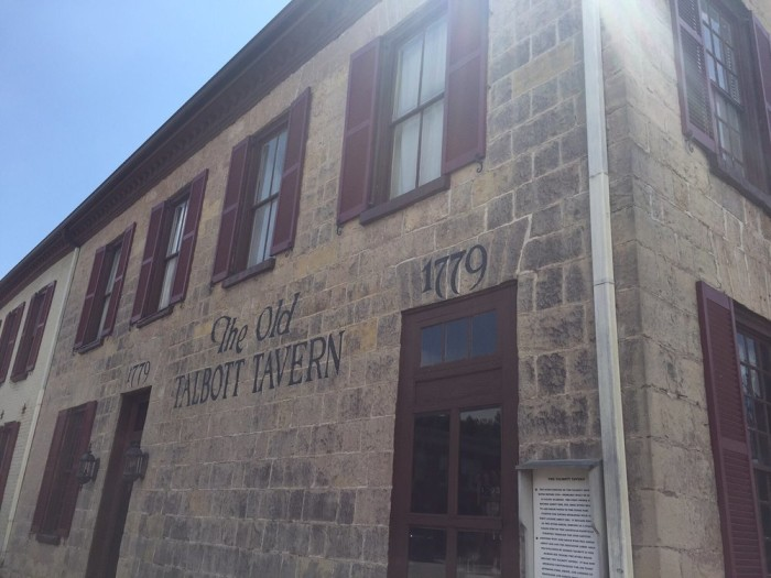 1. The Old Talbott Tavern at 107 W Stephen Foster Avenue in Bardstown