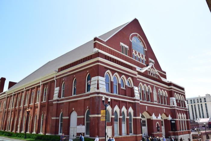 1) The Ryman Auditorium