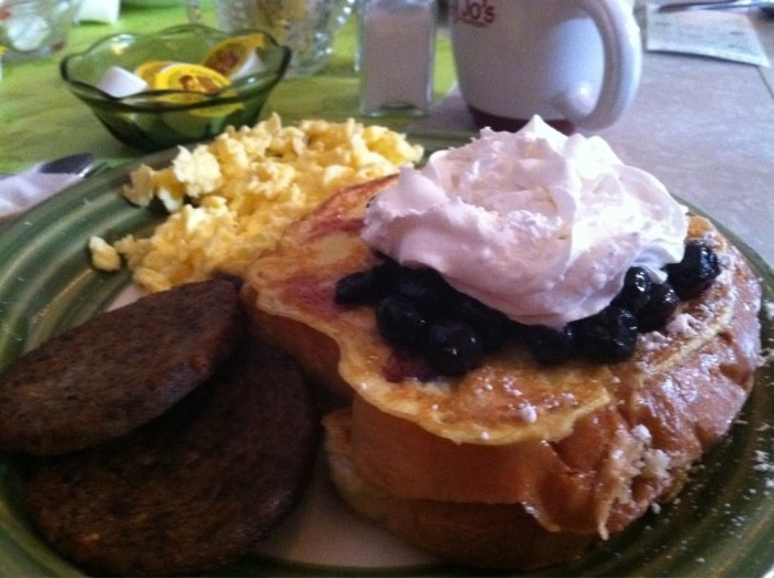6. The perfect full southern breakfast is found at Marcy Jo's