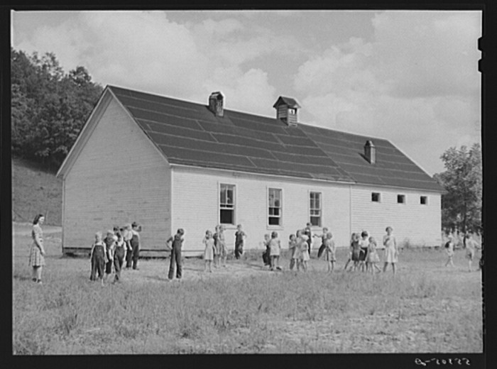 10. A two-room school house