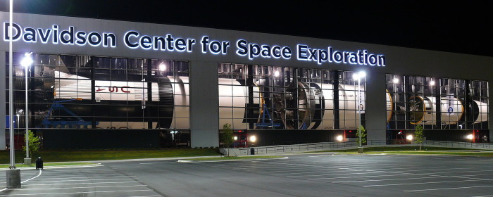 10. The main feature of the Davidson Center for Space Exploration is the SA-500D Saturn V.