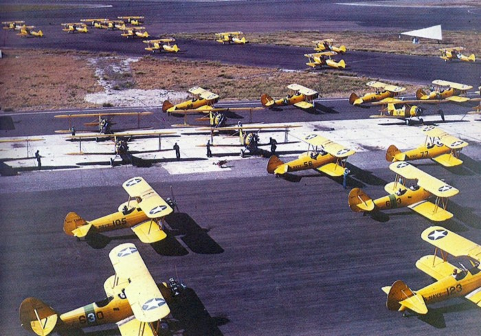 8. These are training planes at the naval air station in Corpus Christi.