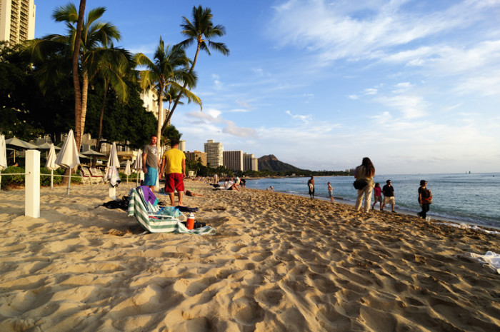In order to combat this problem, colossal amounts of sand have been dumped onto Waikiki Beach, mainly from Molokai and other Oahu beaches. Some 380,000 cubic yards of sand were brought in during the mid-1900s – that's enough sand to fill 116 Olympic-sized swimming pools! The practice was outlawed in the late 1970s, and not much has been done to help Waikiki Beach until recently.