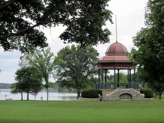 9. Lake Quannapowitt in Wakefield is an absolutely charming spot and can be admired from the nearby bandstand.