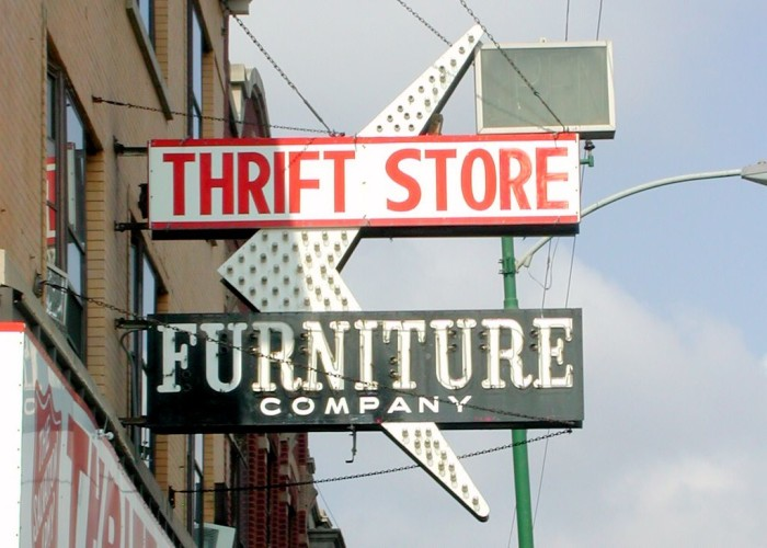 4) We love to utilize our expansive thrift stores