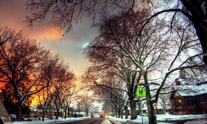 11. Winter Sunset in Missoula