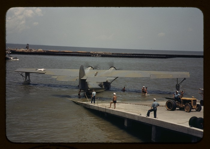 2. This a sea plane being tested out at the naval air base in Corpus Christi.