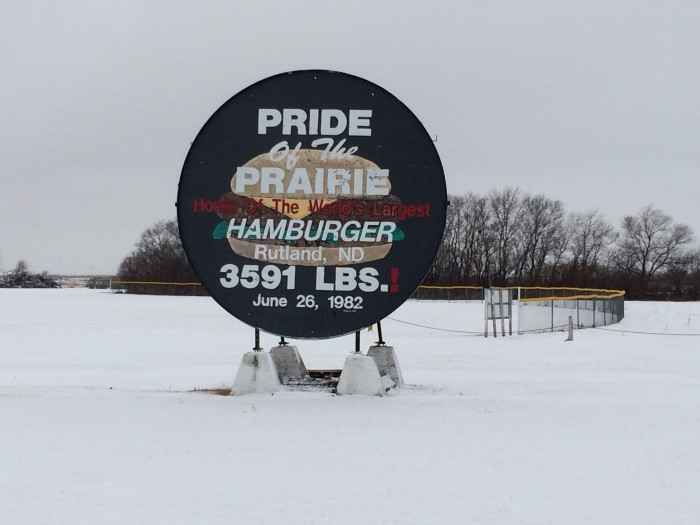 7. All of that cattle contributed the the world's largest hamburger, made right here in ND.