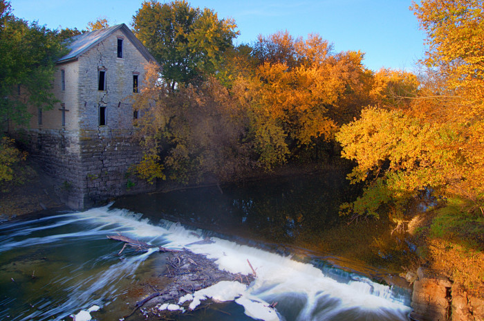 Kansas - Drinkwater & Schriver Flour Mill on the Cottonwood River
