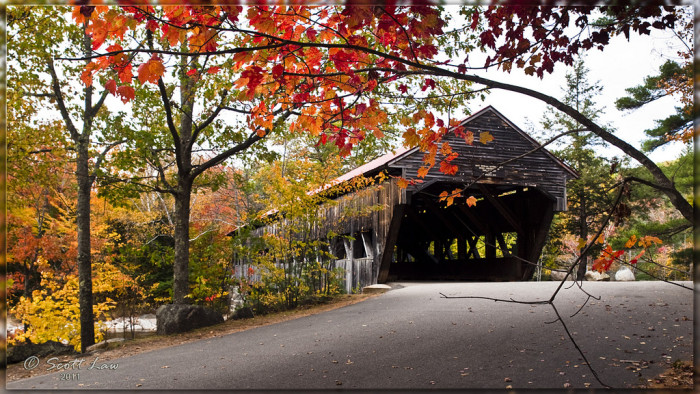1. The Albany covered bridge is perfectly charming in the fall.