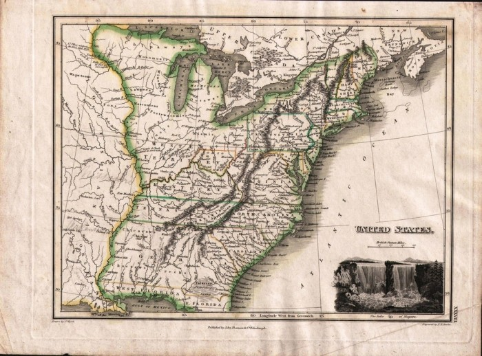 10. A rare map from 1814 showing a US that could've been.