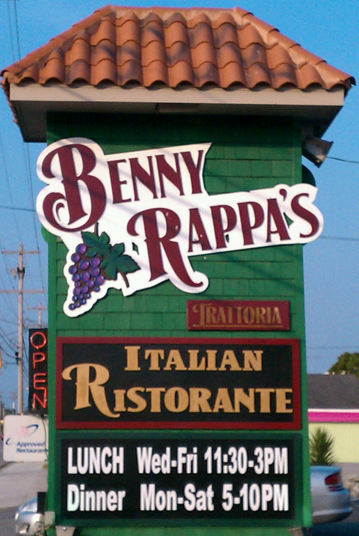 3. Benny Rappa's Trattoria - North Myrtle Beach (1453 Hwy 17 S, North Myrtle Beach, SC)