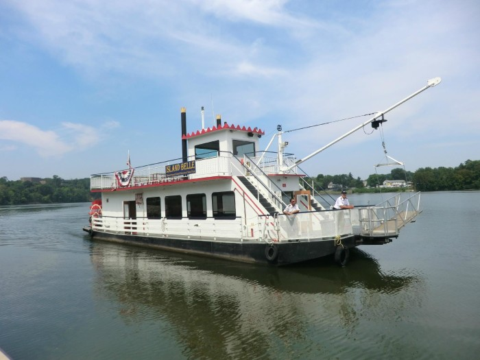 The mansion is accessible only by boat — a sternwheeler river boat that leaves from Point Park on Second Street in Parkersburg. The boat ride takes about 20 minutes each way.