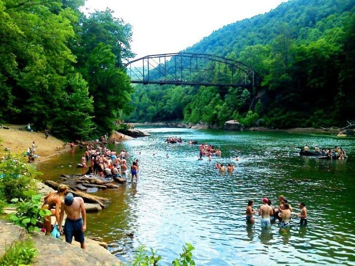 Blue Hole, Morgantown, West Virginia
