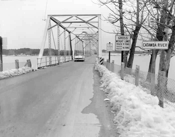8. Lake Wylie - The old Buster Boyd Bridge in March of 1960.