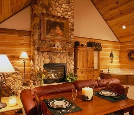 Log Bed Frame Cozy Cabin
