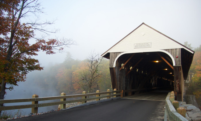 2. The Blair Covered Bridge in Campton was recently refinished.