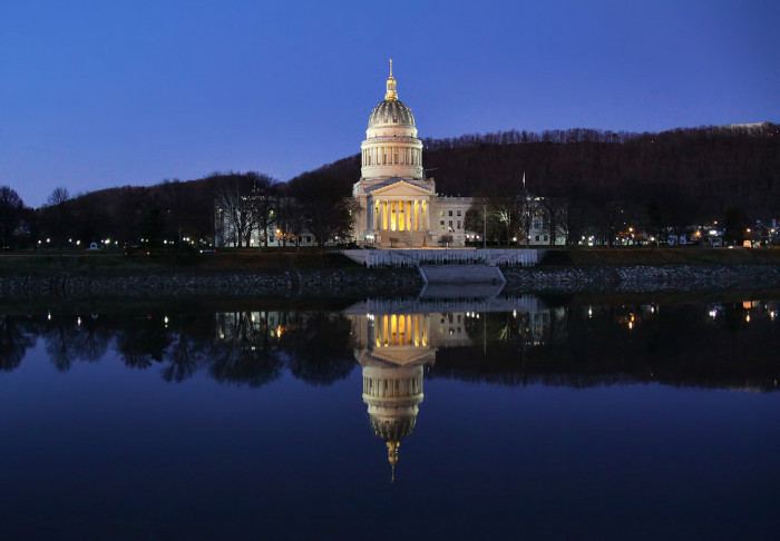 4. Night time at the Capitol.