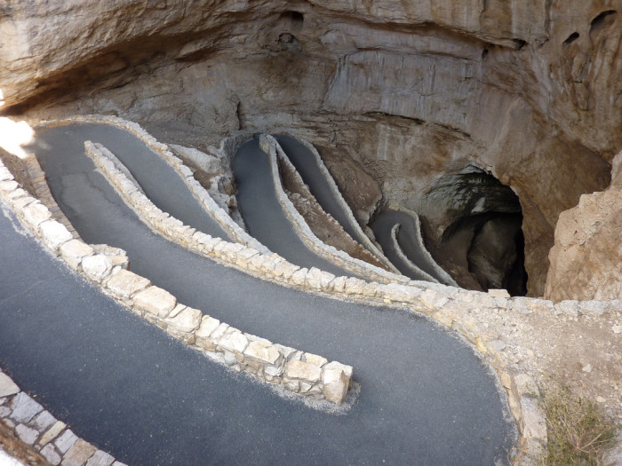 6. Entrance to Carlsbad Caverns, near Carlsbad