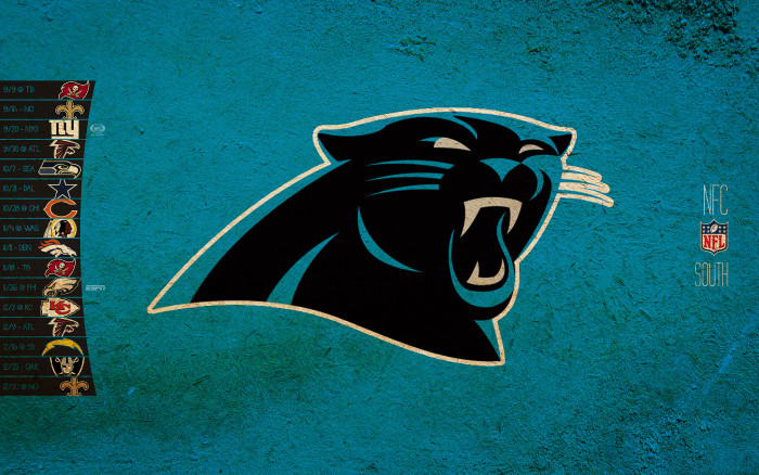 5. The Carolina Panthers logo was designed with a subliminal message.