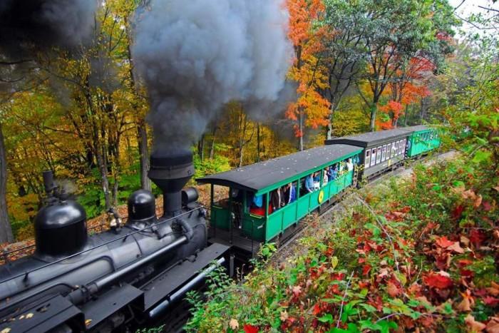 4. All aboard the Cass Scenic Railroad.
