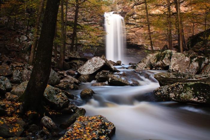 4. See Cedar Falls at Petit Jean State Park.