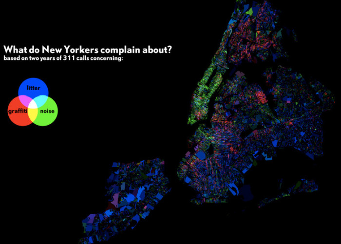 8. What New Yorkers complain about, by area.