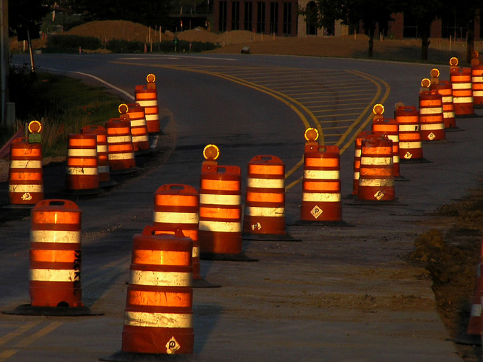 12. You assume construction barrels are a permanent fixture rather than a temporary inconvenience.