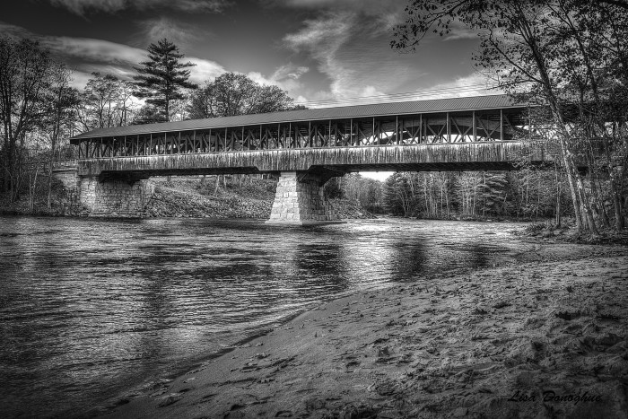 11. This long covered bridge in Conway is lovely.