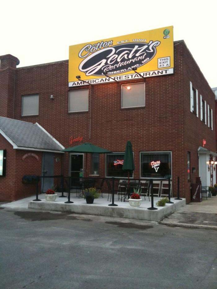 4. Cotton Geatz's Restaurant, Cumberland
