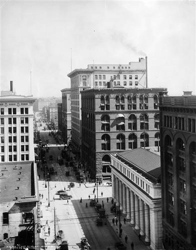 7.) Denver Financial District (c. 1915).