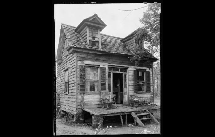 19. A dormered cabin in Georgetown County, SC in 1936 or 1937.