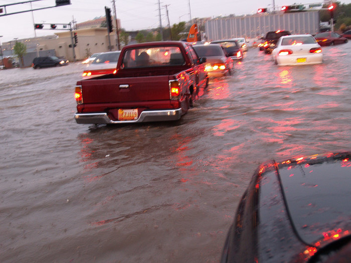 2. During monsoon season, we have to handle extreme weather, like flash floods.