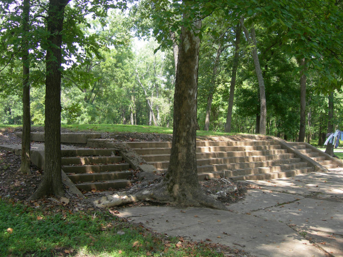 "11. The front steps that led to the courthouse in ""Old"" Greenville, MO."