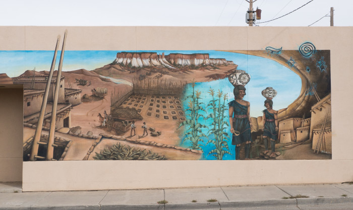 15. Gallup's mural project led to the creation of this artwork by Zuni artist, Geddy Epaloose.