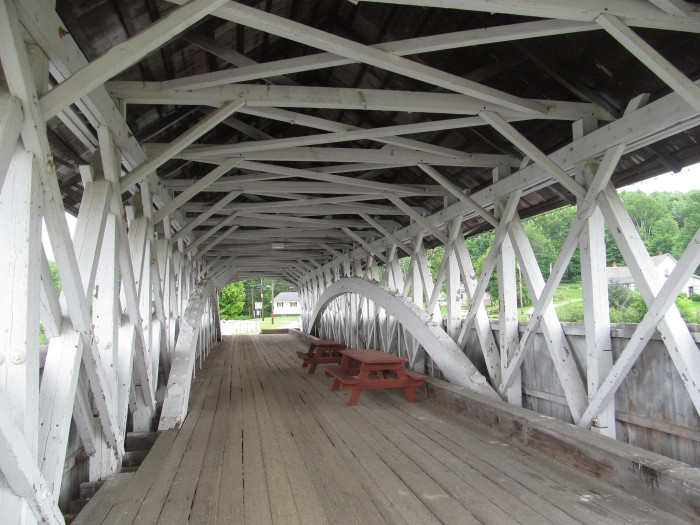14. The Groveton Covered Bridge is perfect for a picnic.