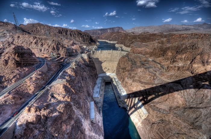 50. Hoover Dam, Nevada. Taking inflation into account, this Dam cost nearly 1 billion dollars. Its construction is truly incredible.