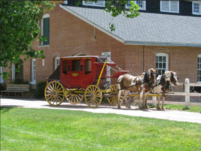 11. Step back in time with a horse-drawn stagecoach ride through Fort Robinson State Park.