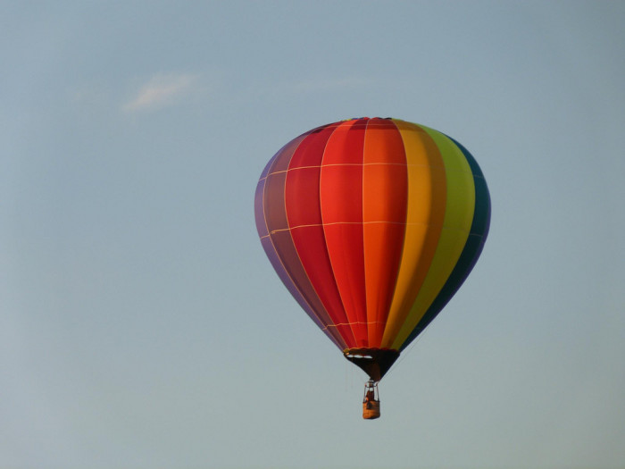 11. The sky -- on a hot air balloon ride.